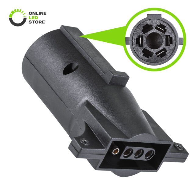 7 Way Blade To 4 Way Flat Trailer Adapter 7 Pin To 4 Pin Trailer Wiring Z6e2 For Sale Online Ebay