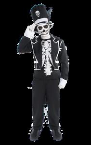 Da Uomo cattivo Baron Samedi Voodoo Giorno dei Morti Halloween Costume