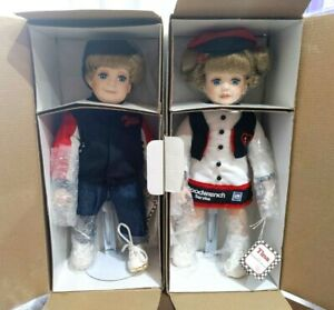 The-Hamilton-Collection-Dale-Earnhardt-Nascar-Travis-and-Tina-Porcelain-Doll-NEW