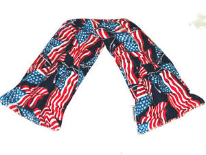 American Flag Neck Size Pick a Scent Ricepack Microwaveable Hot Cold Pack Pad
