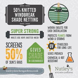 Nutley-039-s-1-5m-wide-50-Shade-Netting-Windbreak-greenhouse-garden-various-lengths