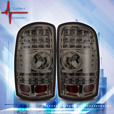 2000-2006 Chevy Tahoe Suburban GMC Yukon Tail Light Chrome Smoke LED Lamps PAIR