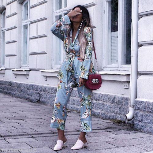 imprimé floral Bnwt Favorite Zara M 205 bleu Blazer 2832 Bloggers 5R4AjL