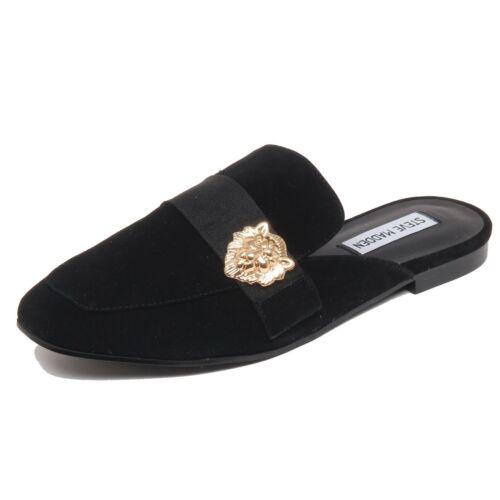 F6842 sabot donna black STEVE MADDEN KARISMA scarpe suede shoe loafer woman