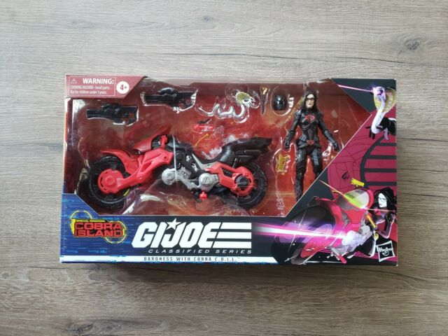 GI Joe Classified Cobra Island Baroness with COIL Motorcycle Target Excl New NIB