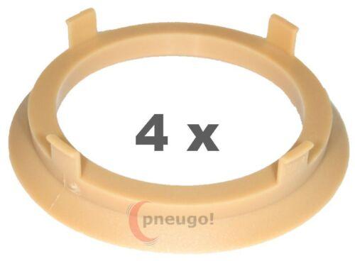 4 Piezas Anillas de centrado plástico 70.1mm a 57.1mm Arena