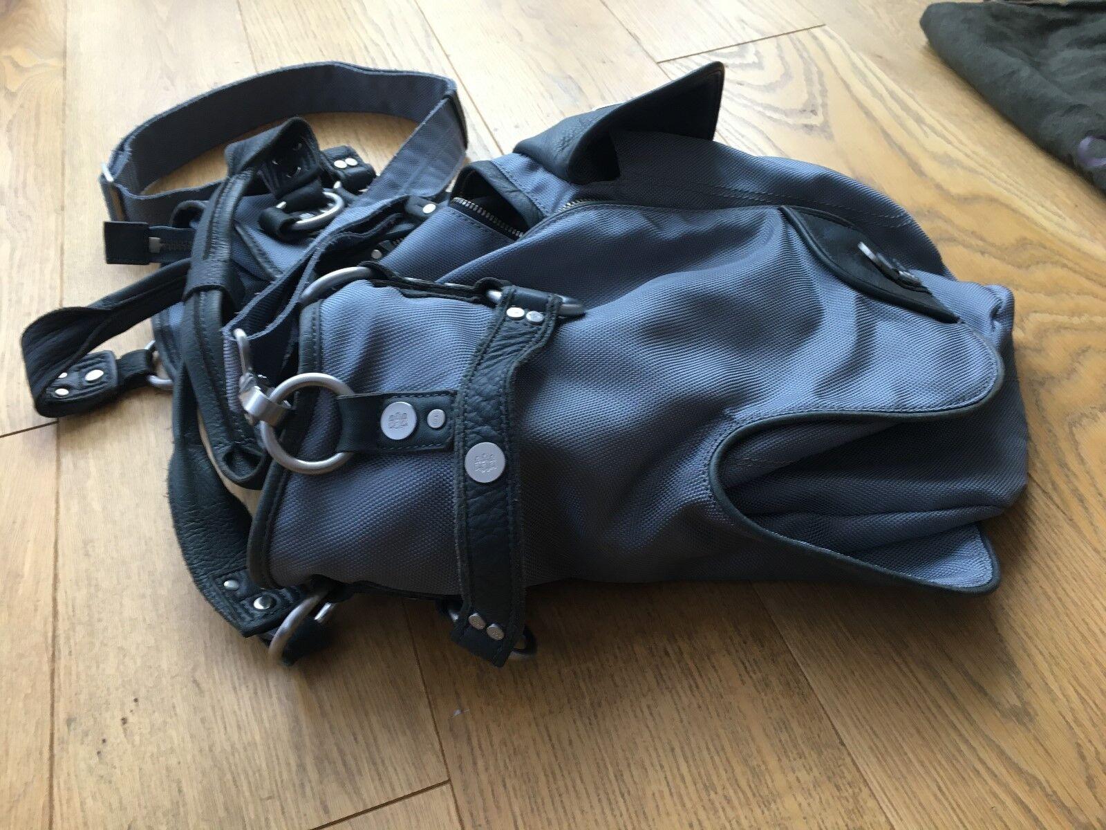George Gina & & & Lucy Tasche Nylon Leder grau groß Totebag Schultergurt TOP | Exquisite (in) Verarbeitung  | Clever und praktisch  | Guter weltweiter Ruf  4a217e