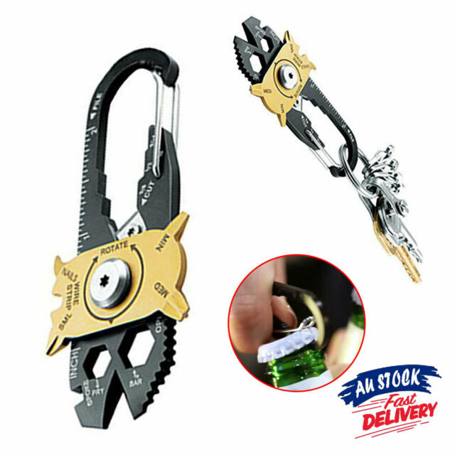 Outdoor 20-in-1 Pocket Multi Tool Kits Keychain Survival Screwdrivers Wrench EDC