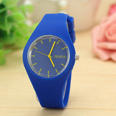NEW Mens Gents Womens Ladies Silicon/Rubber GENEVA Wrist Watch UNISEX