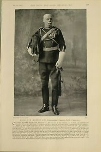1897-PRINT-COLONEL-H-ABADIE-COMMANDANT-CAVALRY-DEPOT-CANTERBURY