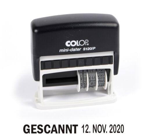 Beleg Eingescannt #1197 Gescannt COLOP S120//P Stempel mit Datum Selbstfärber