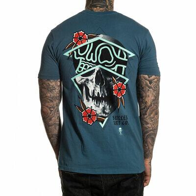 Sullen Men/'s Rigoni Skull Premium Short Sleeve T Shirt Blue Clothing Apparel
