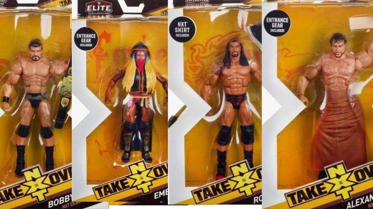 WWE NXT ELITE SERIES 3 FULL SET OF 4 ACCESSORIES MATTEL WRESTLING ACTION FIGURE