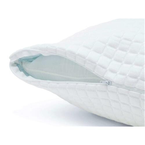2 Pack Queen Plixio Shredded Memory Foam Pillows Bamboo Cover Hypoallergenic