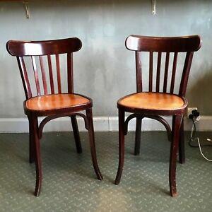 Détails sur Rare paire de chaises bicolore vintage Thonet Fischel Baumann 1940 1950