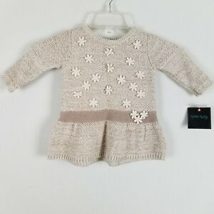 277cb33f3 Image is loading Cynthia-Rowley-Infant-girls-beige-floral-sweater-size-
