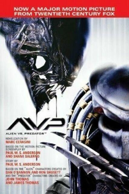 Alien Vs Predator 2004 By Marc Cerasini Novelization 0739446762 For Sale Online Ebay