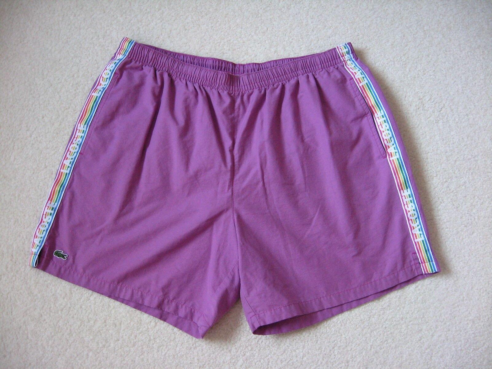 LACOSTE Men's Swim Trunk color Lavender Purple Size XL Cotton Blend