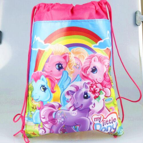 Kids Boys Girls Children Cartoon Drawstring PE Swimming Party Bag Book Bag