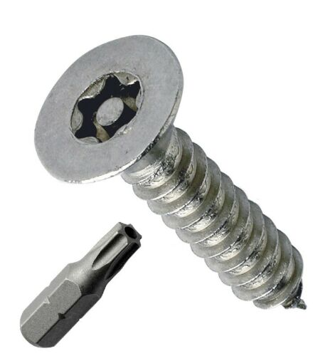 STAINLESS STEEL COUNTERSUNK SECURITY SCREWS PIN TORX SELF TAPPERS ASSORTED 339pc