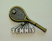 SPORT / TENNIS - RACQUET EMBROIDERED IRON ON  APPLIQUE / PATCH