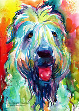 ART PRINT Colorful WHEATEN TERRIER dog painting Svetlana Novikova