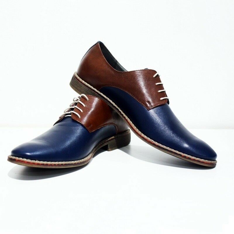 Modello Acireale - Handmade Handmade Handmade Colorful Italian Pelle Oxford Dress Shoes Brown 8a8f5b