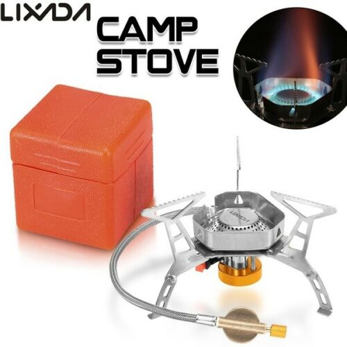 Gas Burner Foldable Portable Gas Stove Fishing Outdoor Camping Cooking Tool Y7E5