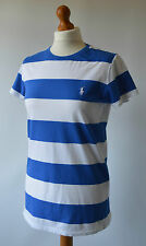 Girls Ralph Lauren Sport Blue & White Top Size XL or Ladies Size 8