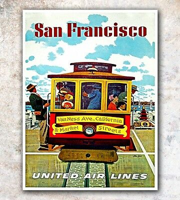 "San Francisco Art Travel Poster Wall Decor Print 12x16"" A68"