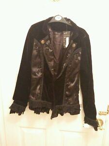 Berleska 10 giacca Medusa vita piccola Rose taglia 8 cappotto Velvet Gothic Design dSPqd