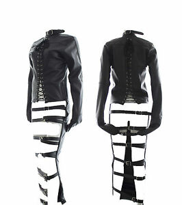 PVC Leather Womens Full Body Suit Restraints Bondage Straight ...