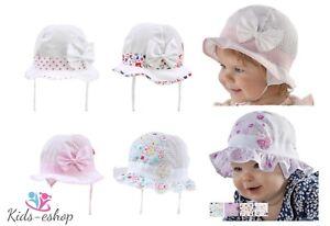 Baby Girls Hat Spring Summer Sun Hat Bonnet 0-18 Months   eBay 2c74e248eda