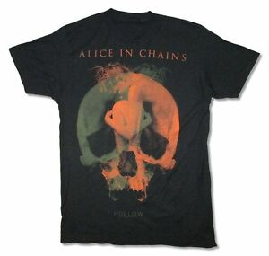 Alice-In-Chains-Fetal-Tour-2015-Black-T-Shirt-New-Official-Adult-Hollow