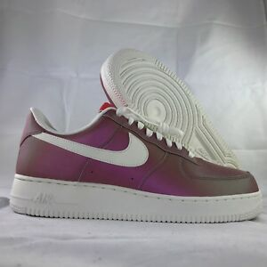 Men's Shoes Nike Air Force 1 One Low TRACK RED IRIDESCENT