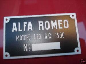 Panneau Type Alfa Romeo Plaque 6c1500 6c 1500 6 C Nzctvhjc-07225225-767035869