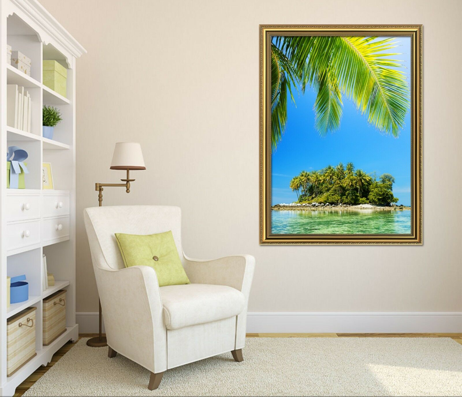3D Island Sea 6 Framed Poster Home Decor Print Painting Art AJ AU