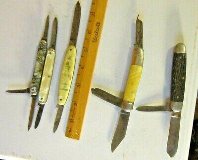 5 Vintage Pocket Knifes Hammer Utica Camco Imperial Flosi Ebay