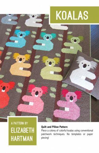 Koalas Edredón y Almohada patrón por Elizabeth Hartman EH054