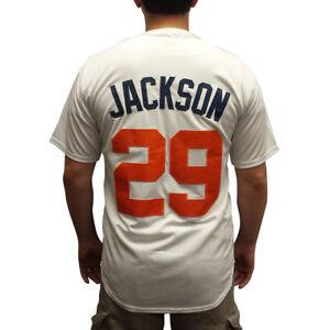 Jackson #29 Blanc Maillot De Baseball Bo Auburn Tigres Collège Uniforme Brodé