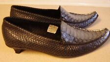 Silver shoes fake snake slip on unusual made in spain Mongreen size 37 not worn