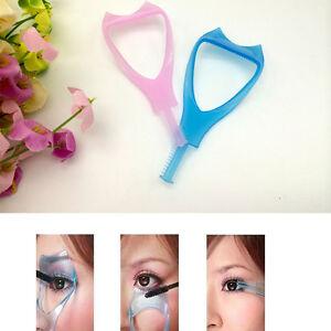 bbbbb425877 3 in 1 Eyelash Template Curler Mascara Guard Applicator Comb Brush ...