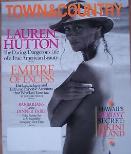 Town amp Country USA Magazine  JuneJuly 2013  LAUREN HUTTON - <span itemprop=availableAtOrFrom>Oxfordshire, United Kingdom</span> - Town amp Country USA Magazine  JuneJuly 2013  LAUREN HUTTON - Oxfordshire, United Kingdom