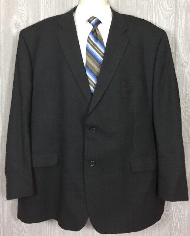 Peerless Man  Herren Charcoal Wool 2 Button Blazer Sportcoat Sz 54R (t6)