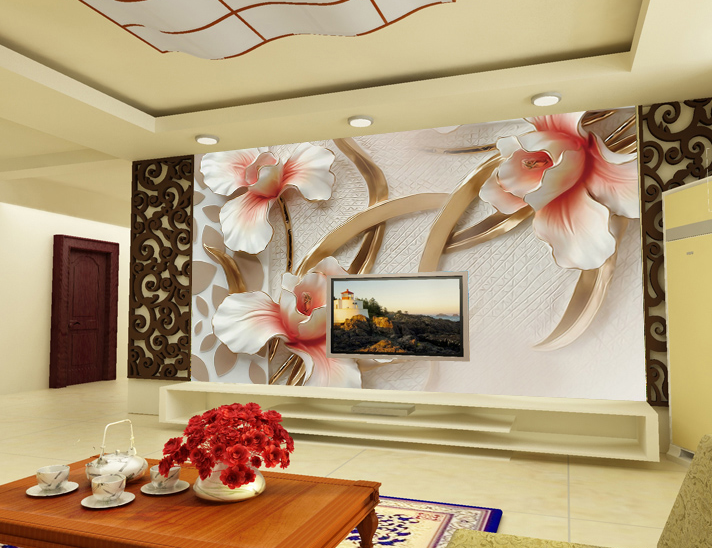 3D Flowers Leaves 244 Wall Paper wall Print Decal Wall Deco Wall Indoor Murals
