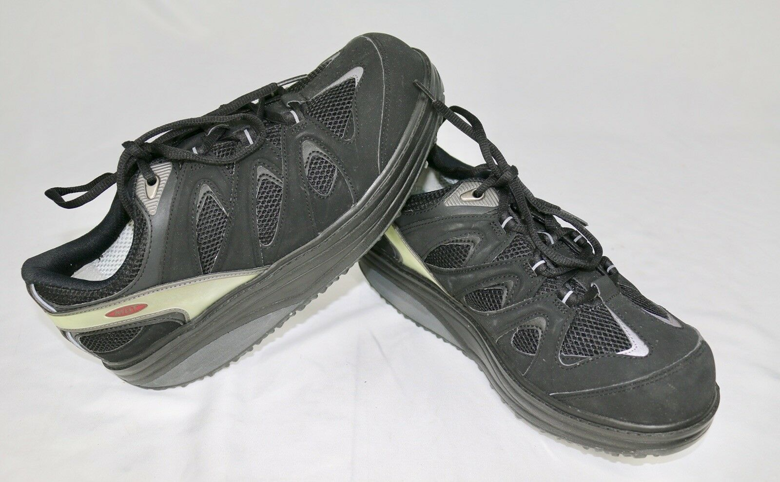 MBT ANTI-SHOE BLACK LEATHER FITNESS WALKING CASUAL SHOES Size 11