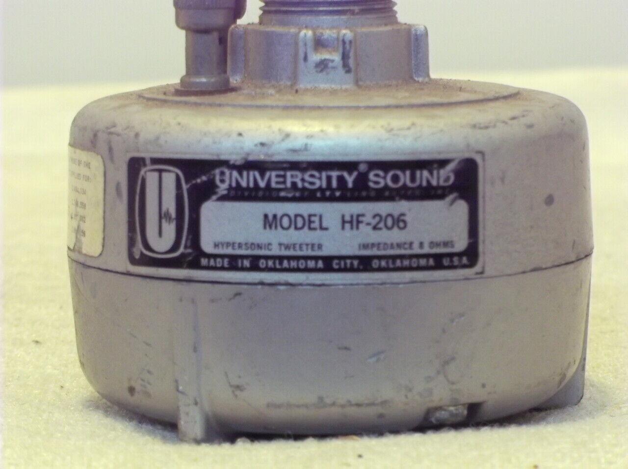 University Sound, 8 Ohm Hypersonic Tweeter, P N HF-206