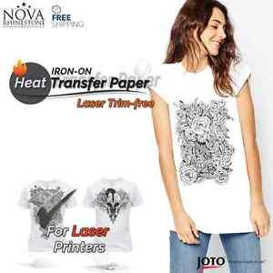 "Laser Iron-On TRIMFREE Heat Transfer Paper, Light fabric, 100 Sheets, 8.5"" x 11"""