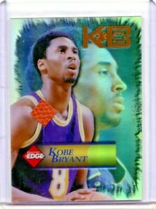 1998 Collector's Edge Impulse Refractor KB8 Kobe Bryant ball relic Lakers