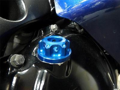 Suzuki GSF1200 GSF1250 GSF600 GSF650 SV650 Bandit Tapón De Llenado Aceite CNC Azul R1A7